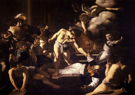 Caravaggio, Michelangelo Merisi da: The Martyrdom of Saint Matthew. Fine Art Print.  (002069)